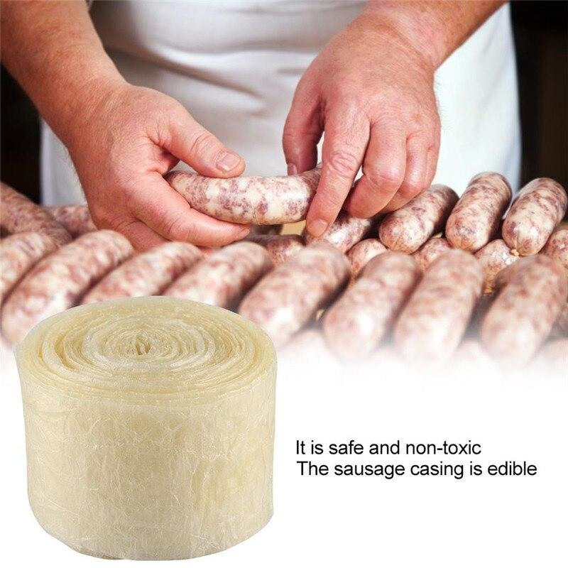 Съедобная оболочка для сосисок, трубка для приготовления колбасы из свиной кишки, корпус для сосисок, сосисок для хот догов, гамбургеров, инструменты для сосисок, 50 мм, 8 м|Спринцовки|   | АлиЭкспресс