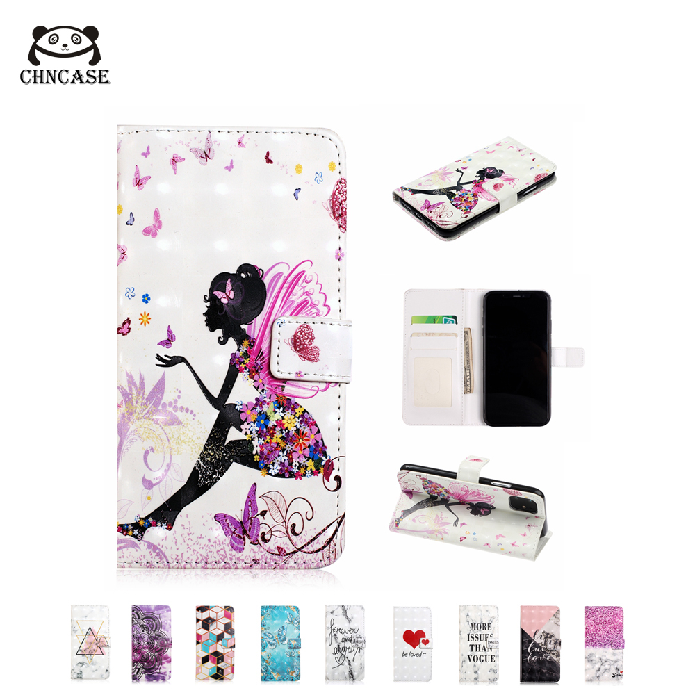 CHNCASE Girl Magnetic Leather Flip Phone Case For iPhone X XSMAX XR 5 5s SE 6 6s 7 8 Plus 11 Pro Cases Wallet Cover Bag