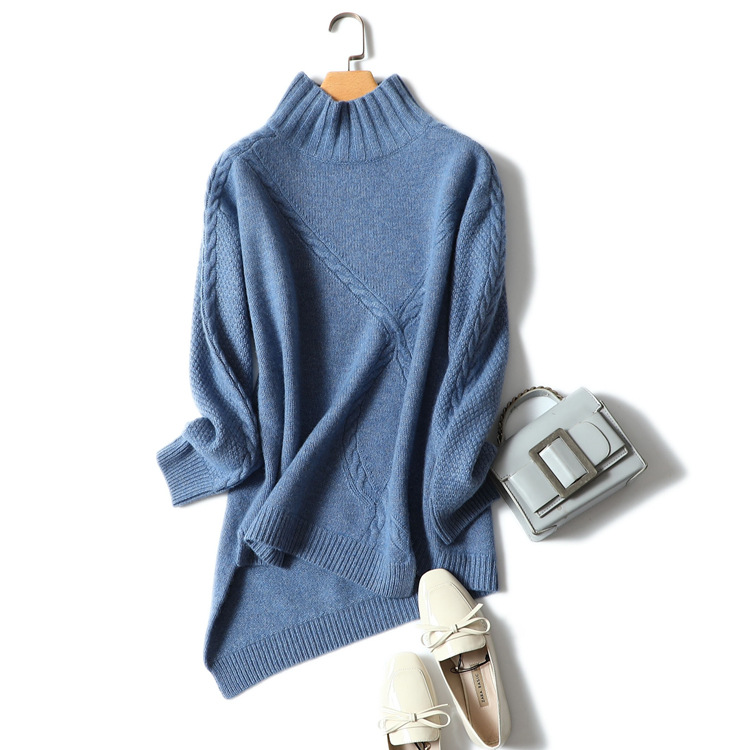 Ka sana/весенне осенний Новый стильный свитер из чистого горного кашемира с получерепахой Женский пуловер свитер женский вязаный свитер