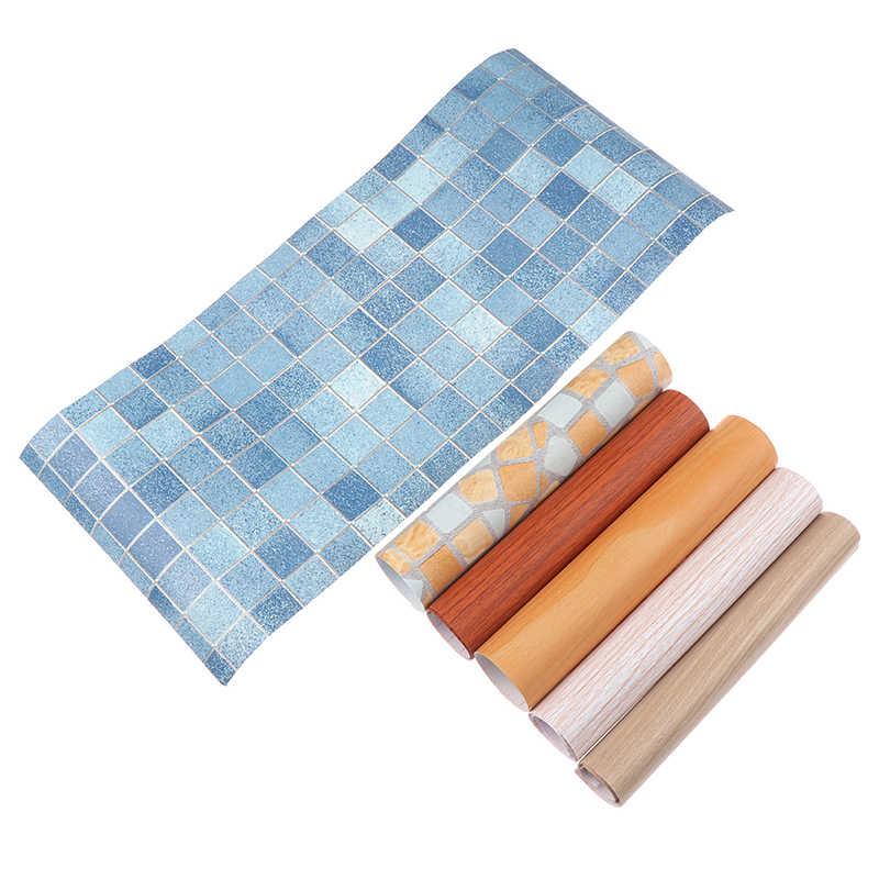 45*20 ซม.กันน้ำไม้วอลล์เปเปอร์Self Adhesiveกระดาษประตูตู้เดสก์ท็อปโมเดิร์นเฟอร์นิเจอร์ตกแต่งสติกเกอร์