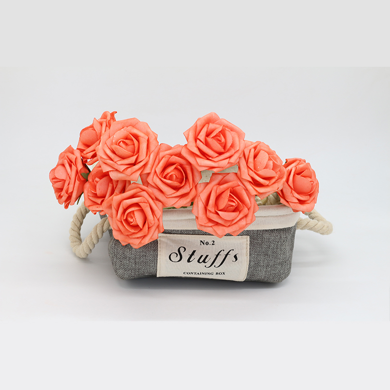 100 Pc Fake Wedding Flowers Coral Artificial Roses Foam Floral 3