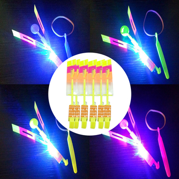 helicopter Flying Umbrella Kids toys Outdoor Children Toy LED Flare Flyer LED Flying Amazing arrow