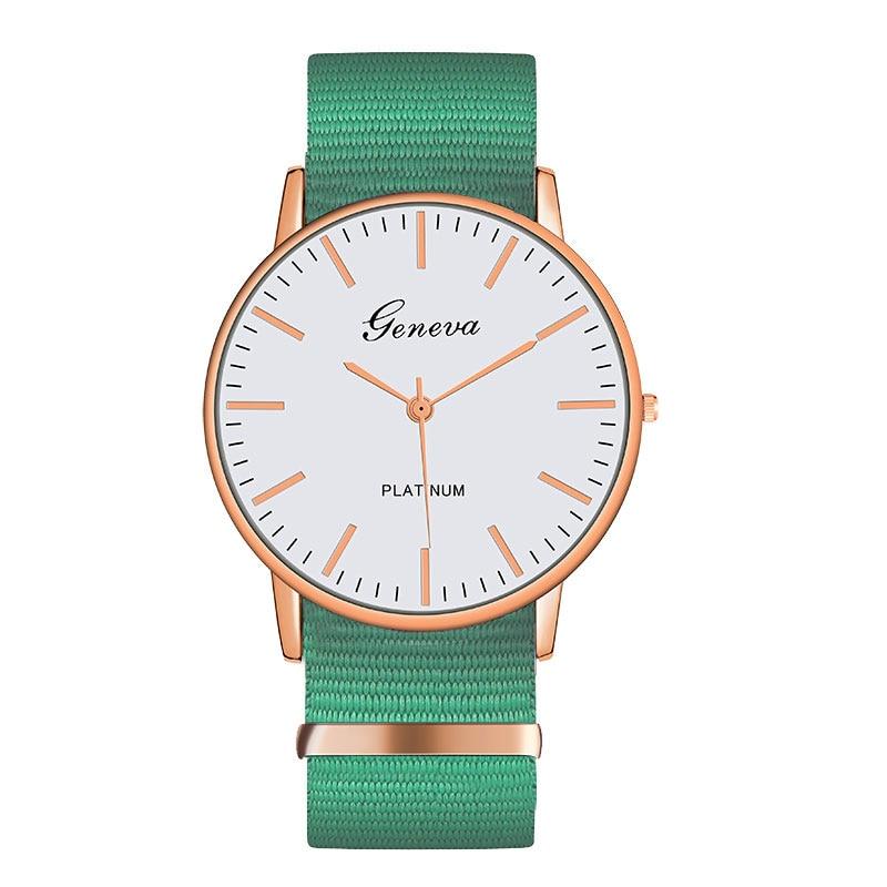 New Brand Women Watches Ultra Thin Canvas Band Quartz Watch Fashion Female Wristwatch Relogio Feminino Zegarek Damski Relojes