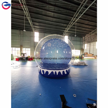Free shipping customized snow globe inflatable bounce house inflatable christmas inflatable snow globe for advertising free shipping 1 5m pvc inflatable mirror ball for sale