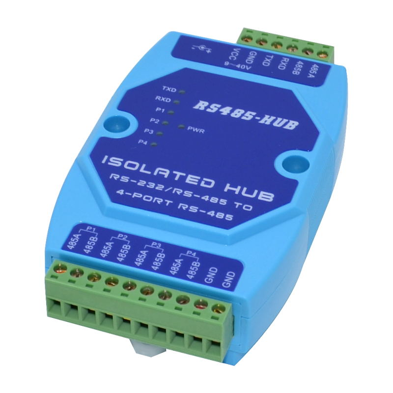 1 In 4 Out Industrial Grade Optical Isolation 4-channel RS485 Hub Sharing Device 485 Splitter 485hub