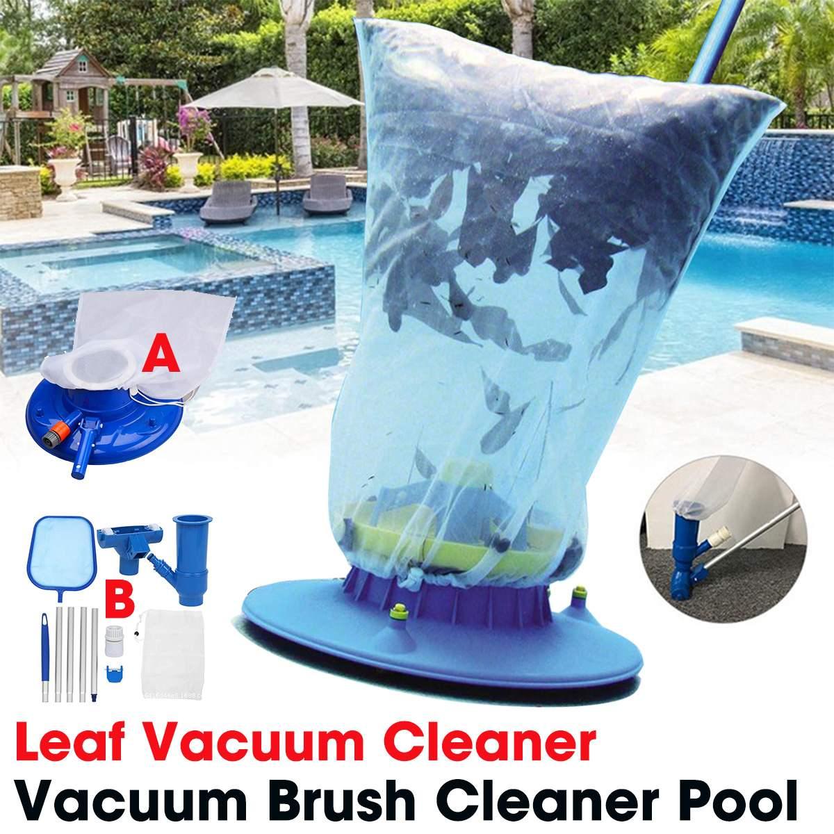 De natación portátil limpiador al vacío para piscina caliente primavera herramienta de limpieza de succión cabeza estanque fuente de jardín al aire libre de vacío cepillo limpiador
