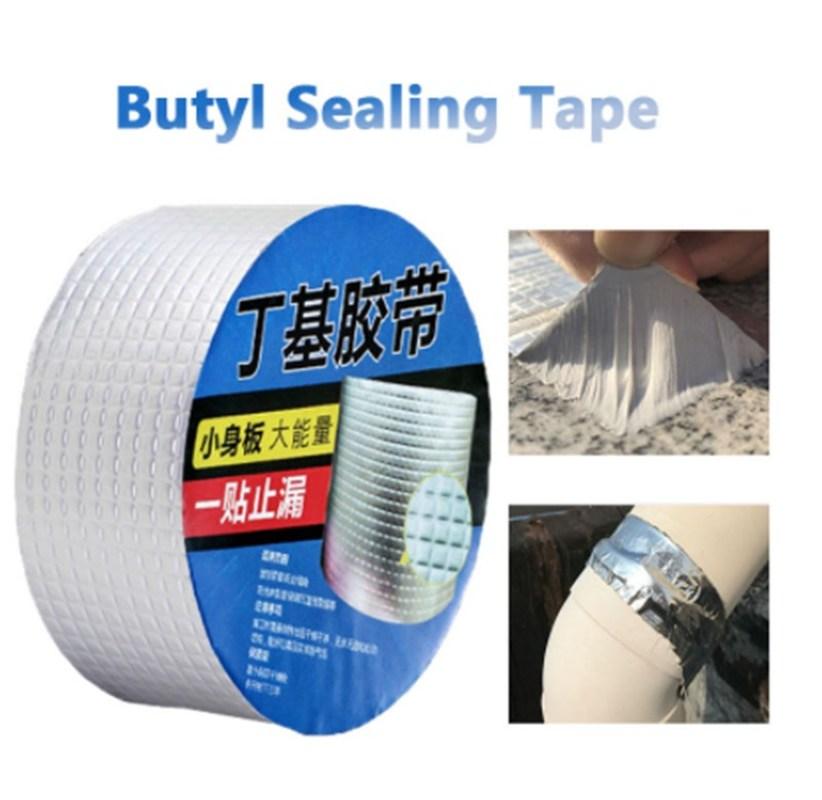 Aluminum Foil Super Fix Waterproof Butyl Masking Tape Leak Seal Repair Tape Stop Stop Crack Thicken Home Renovation Tape Tool