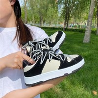 2021 Sneakers Women Spring Autumn Comfort Platform Woman Vulcanize Shoes Lace Up Flats Casual Ladies Sneakers Tennis Female New 1