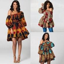 MD דאשיקי אפריקאית בגדי לנשים רקמת bazin riche חולצות נשים של ארוך שרוול t חולצה 2019 דרום אפריקה בגדים