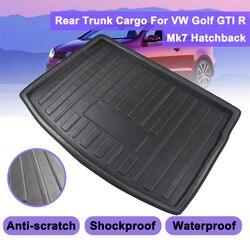Грузовой лайнер для VW Golf GTI R Mk7 хэтчбек 2013 2014 2015 2016 - 2018 загрузочный лоток Задняя Крышка багажника матовый коврик напольный коврик Kick Pad