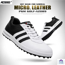 Golf-Shoes No-Spikes Waterproof Breathable PGM Men Pscownlg Head-Layer Cowhide High-Quality