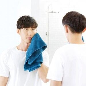 Image 5 - Xiaomi 32X70 Cm Handdoek 100% Katoen 5 Kleuren Sterke Wateropname Bad Zacht En Comfortabel Strand Gezicht Hand handdoeken