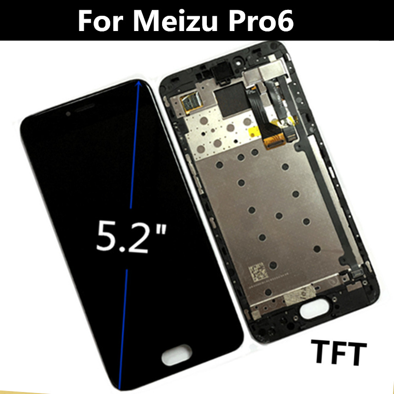 "5.2"" For Meizu Pro6 Meizu pro 6 M570M M570C M570Q LCD Display+Touch Screen Digitizer Assembly Replacement Accessories-in Mobile Phone LCD Screens from Cellphones & Telecommunications    1"