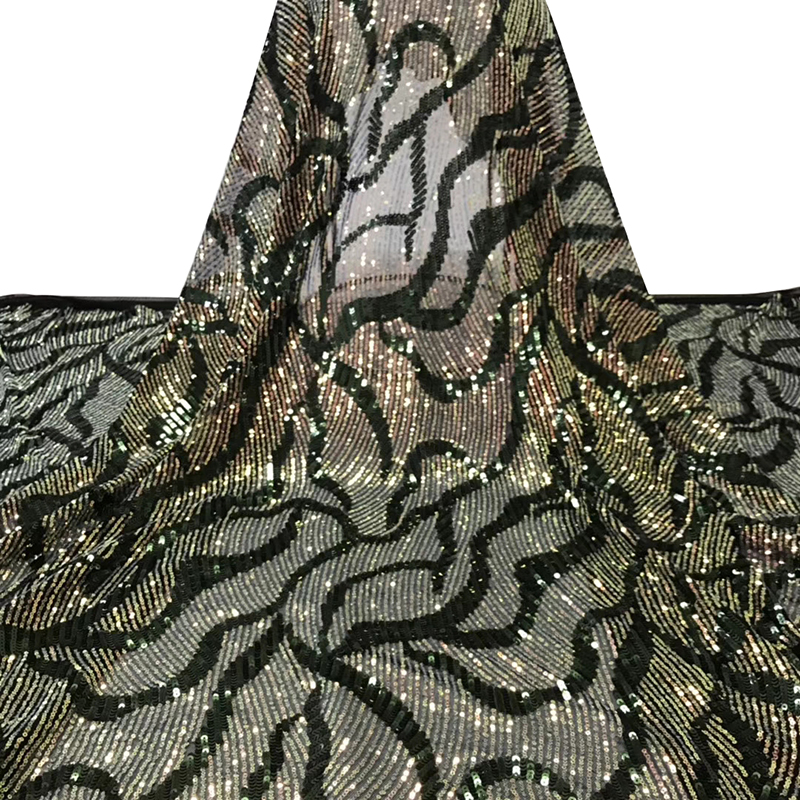 African Lace Fabric 2020 High Quality Swiss Voile Lace Fabric With Sequins For Nigeria Women Wedding Sexy Evening Dress 5 Yards