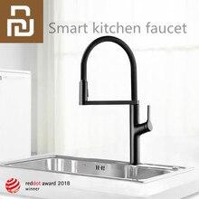 Youpin indüksiyon su tasarrufu taşma akıllı temassız musluk sensörü kızılötesi su tasarrufu mutfak çift modlu su püskürtme