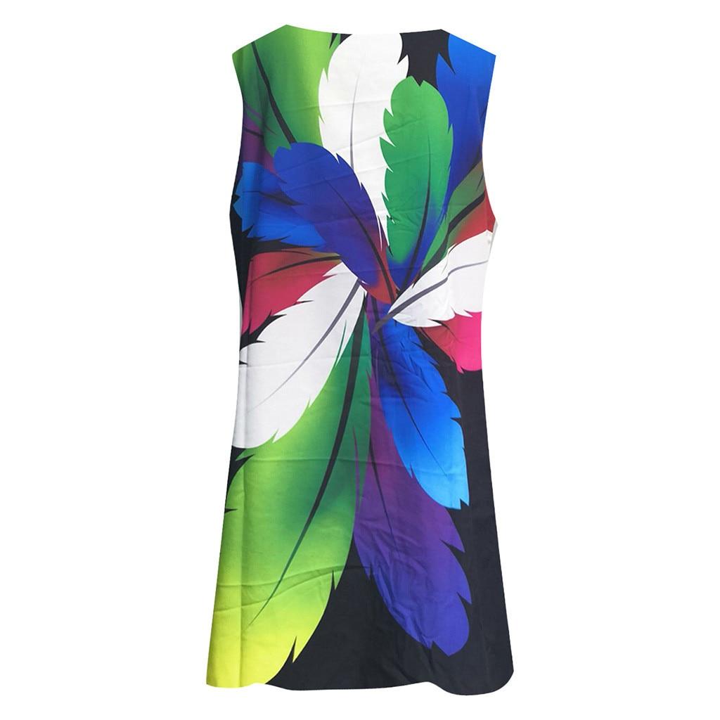 vestido de mujer Women Vintage Boho Summer Sleeveless Beach Printed Short Mini Dress femme robe