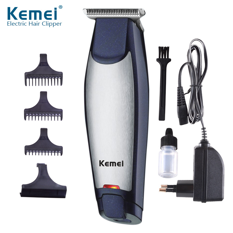 Kemei Electric Hair Clipper 3 In 1 Rechargeable Cordless Mute Hair Trimmer Carving Blank Beard Clipper Haircut Cutting Machine