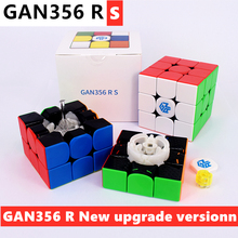 Cubo mágico gan356rs 3x3x3 gan356 rs, cubo mágico 3x3x3 quebra cabeça gan 356rs cubo magico