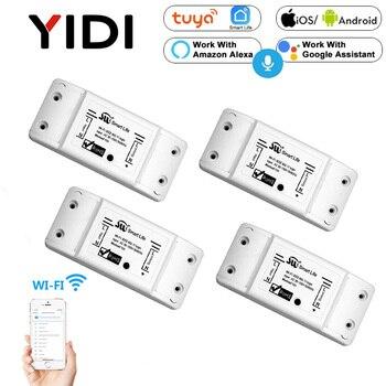 Wifi Smart Light App Control Switch Universal Breaker Wireless Remote Control Smart home tuya App voice control timer switch 1