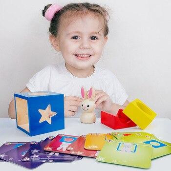 Holz Puzzle Box mit Geheimnis Bunny Boo Verstecken und Suchen Magie Spiel Brain Teaser Holz Spielzeug Puzzles Boxen Kinder Holz spielzeug Geschenke