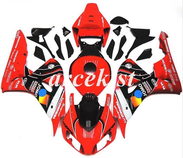 הזרקת עובש חדש ABS אופנוע ערכת מעטפת Fit עבור CBR1000RR 06 07 CBR 1000RR CBR1000 2006 2007 גוף סט אדום שחור