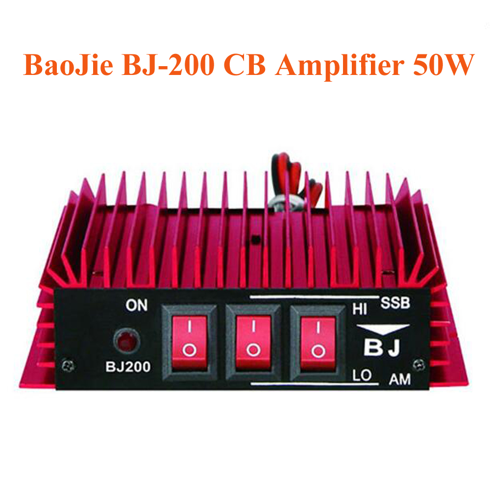 BaoJie BJ-200 CB Radio Power Amplifier 50W HF Amplifier 3-30 MHz AM/FM/SSB/CW Walkie Talkie CB Amplifier