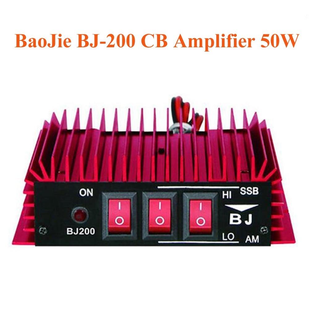 BaoJie BJ-200 CB Radio Power Amplifier 50W HF Amplifier 3-30 MHz AM/FM/SSB/CW Walkie Talkie CB Amplifier