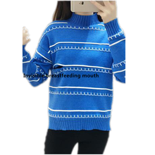 Nursing-Tops Maternity-Sweater Pregnancy-Clothing Breastfeeding Winter for Tee-Color