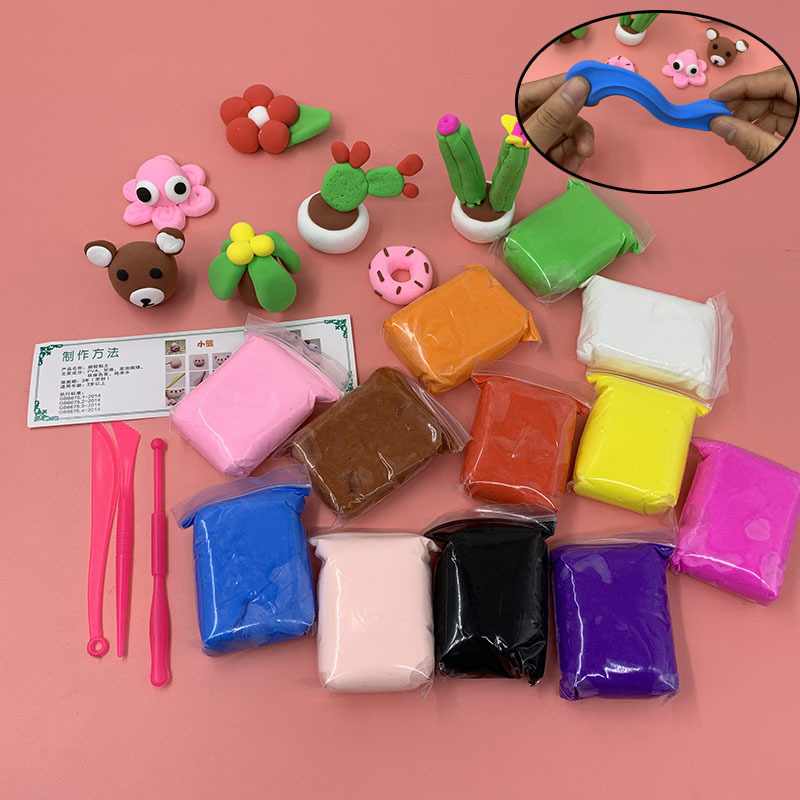 Air Dry Modeling Clay Molding Tools Clays Light Diy Art Kids Craft Supplies New