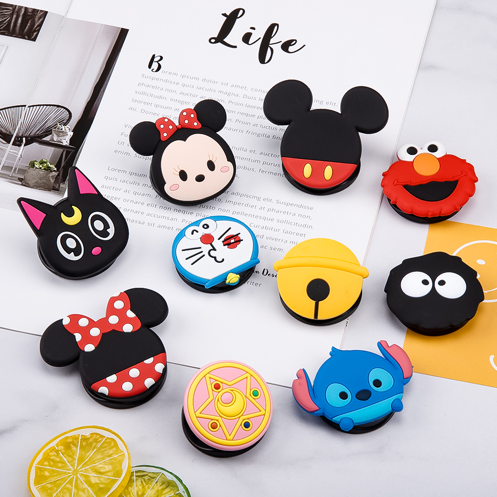NEW 1PCS Universal Mobile Phone Bracket Cute 3D Animal Airbag Phone Expanding Stand Finger Holder Cartoon Phone Holder Stand