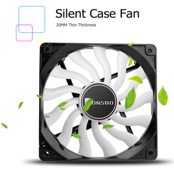 JONSBO 12020 PC Case Fan 120mm Silent Desktop Computer Chassis Fan CPU Cooler Cooling Fan 4Pin 3Pin with 13 Fan Blades Dropship image