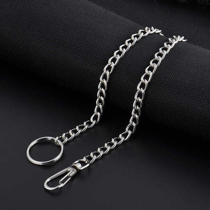 2020 جودة عالية 23 سنتيمتر المعادن طويلة كيرينغ المفاتيح سلسلة محب بانت جان مفتاح المحفظة حزام مشبك حلقي الرجال الهيب هوب مجوهرات