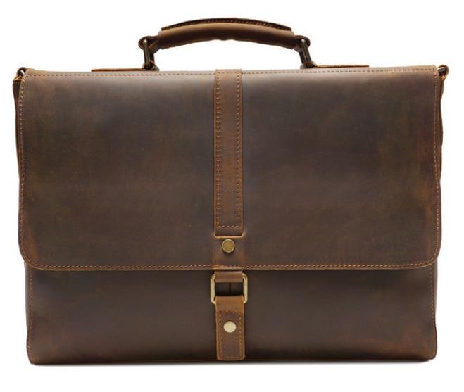 High Capacity Men's Briefcase Genuine Leather Elegant Crossbody Shoulder Men Bag Travel Laptop Handbag Maletin Mujer DF104
