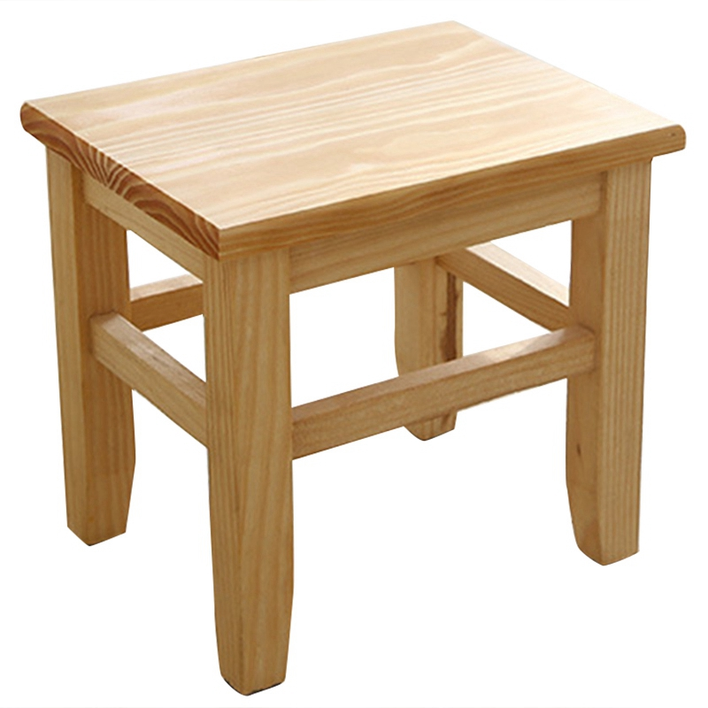 Multi-Function Solid Wood Shoe Bench Stool Children'S Adult Stool Living Room Home Small Bench Sofa Tea Table Chair On-Slip Bath