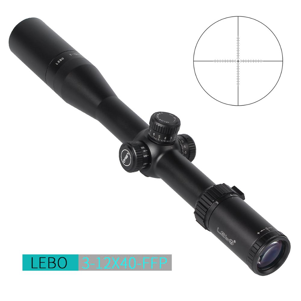 LEBO BJ 3-12x40 FFP Optical Sight Side Parallax Hunting Riflescope First Focal Plane Tactical Rifle Scope With 11 Or 20MM Mount