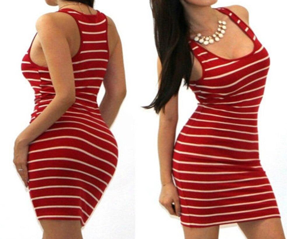 Hd73afb59a94b4f698f5676043df9e815O Long Short sleeve autumn winter Casual Women Striped Bandage Bodycon Dress Sexy Slim Sleeveless Evening Party Mini Dress