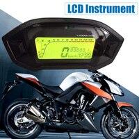Universal Motorcycle Digital Light LCD Speedometer Odometer Tachometer W/ Speed Sensor 7 color display oil level meter Modern