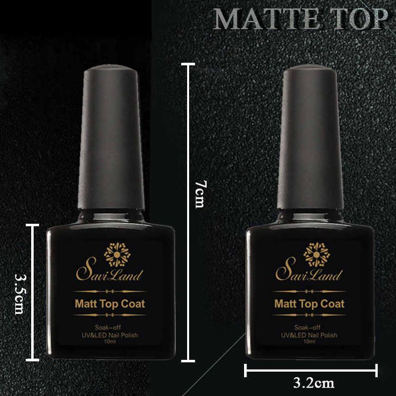 SAVILAND 1pcs Cleaning 10ml Matte Matt Top Gel Nail Art UV Gel Polish Losweken UV Gel Transparant clear Gel Polish voor Salon