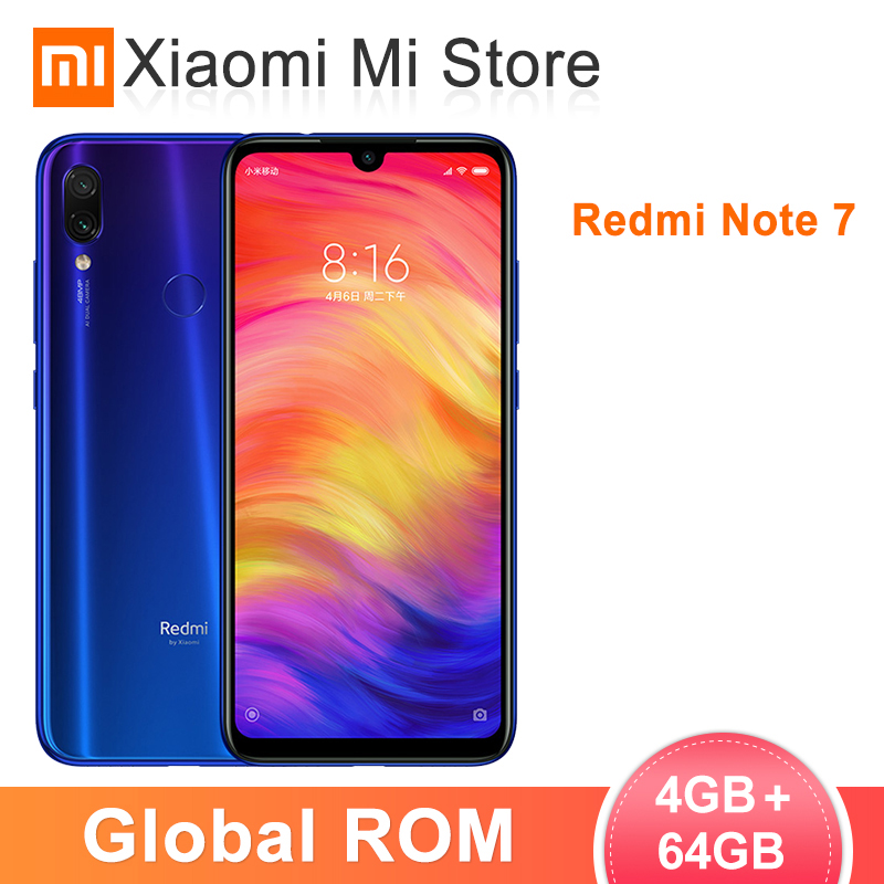 "Global ROM Xiaomi Redmi Note 7 4GB RAM 64GB ROM Smartphone Snapdragon 660 Octa Core 48MP AI Dual Camera 6.3"" Full Screen 4000mAh"