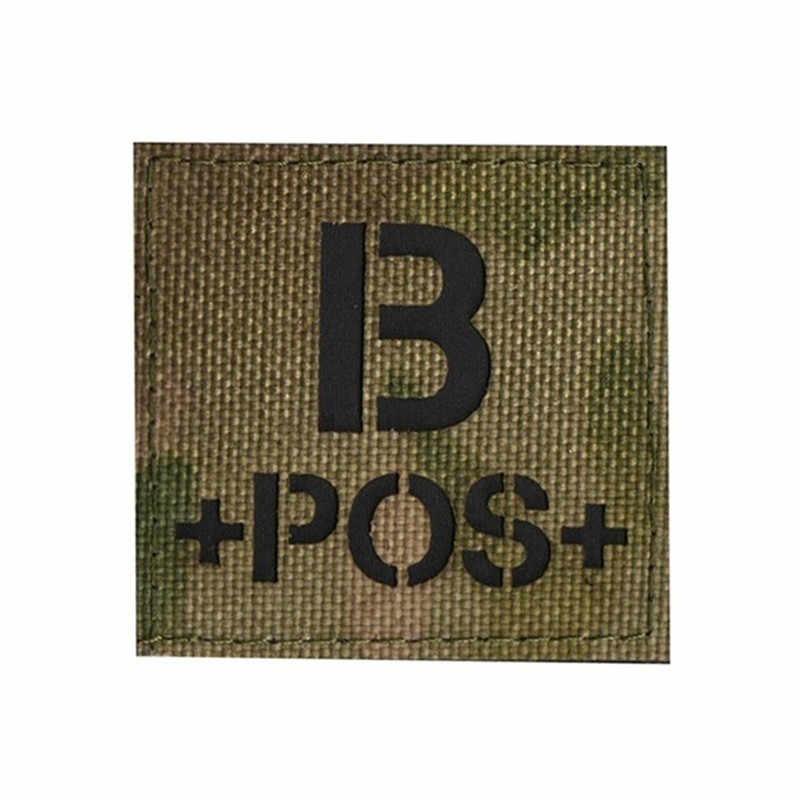 Pamiątka 3D haft typu krwi łatka dla A + B + O + AB + POS pozytywna łatka IR odwrócona CP wojskowa Morale łatka naszywka
