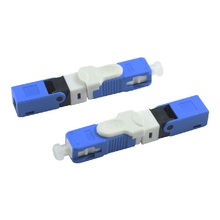 100 adet FTTH SC UPC optik Fiber hızlı bağlantı SC PC FTTH Fiber optik hızlı bağlantı gömülü tip ESC250D SC konnektör