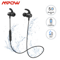 Mpow S16 12hrs Playtime Magnetic Sports Earphone iPX7 Waterproof Bluetooth 5.0 Wireless Earbuds For iPhone 11 Xiaomi Samsung S10|Bluetooth Earphones & Headphones| |  -