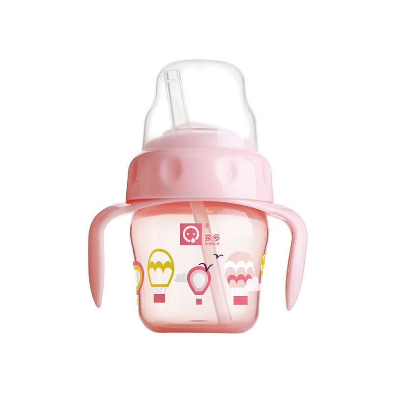 Dearer Infants Straw Cup Silica Gel Soft Spout Cup With Straw Children Drink Glass Sippy Cup