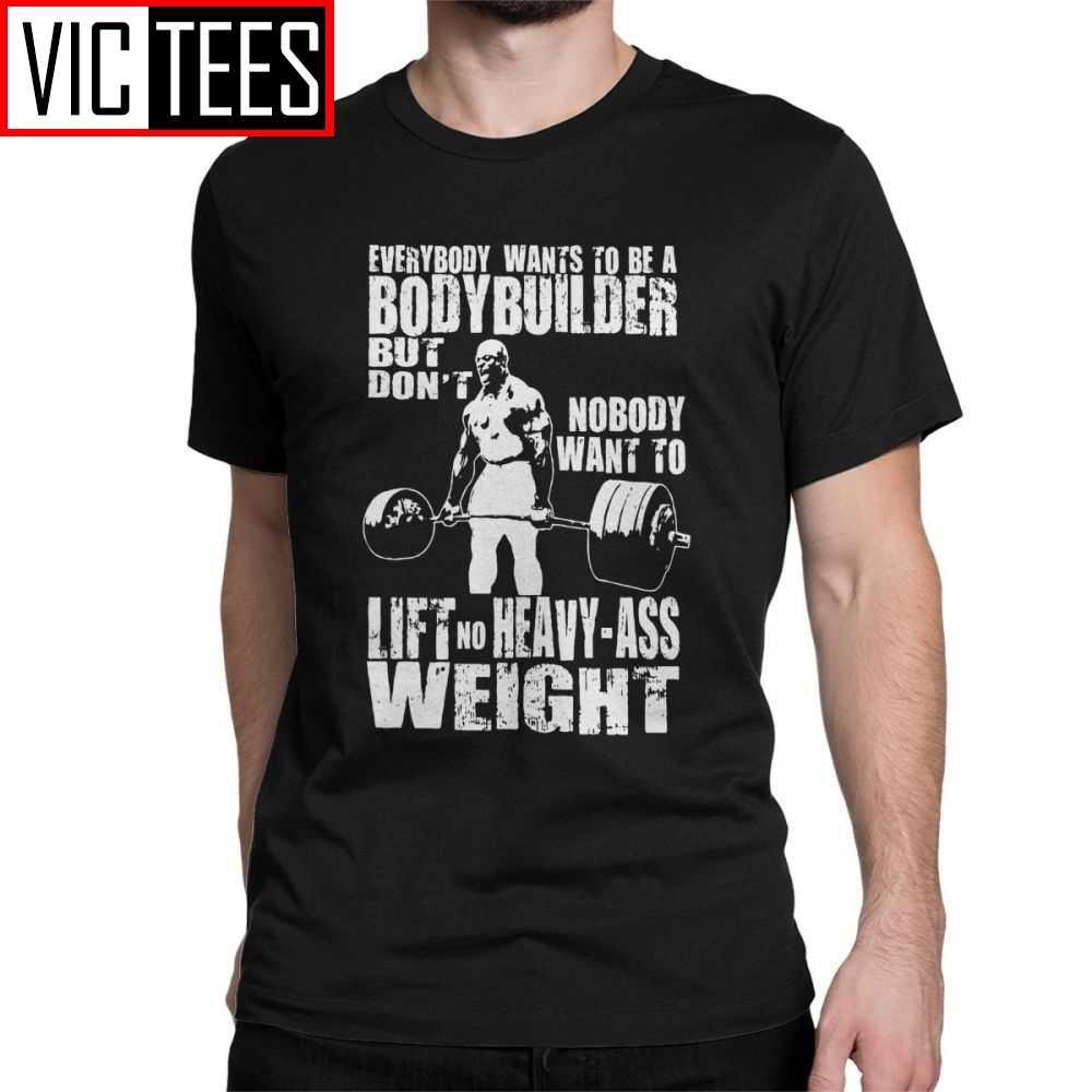 Bodybuilder Ronnie Coleman Deadliftเสื้อยืดผู้ชายแขนสั้นเสื้อลูกเรือคอผ้าฝ้ายเสื้อผู้ชายTเสื้อ