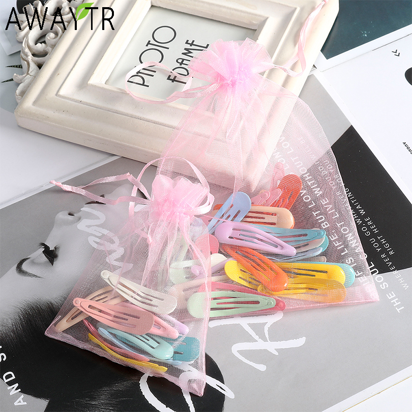 10/16/30PCS/Set Women Girls Geometric Alloy Hairpins Hair Clips Barrettes Solid Headband Hair Holder Fashion Hair Accessories