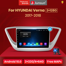 Junsun V1 2G + 32G Android 10.0 Dsp Voor Hyundai Solaris 2017 Verna Auto Radio Multimedia Video Player navigatie Gps Rds 2 Din Dvd