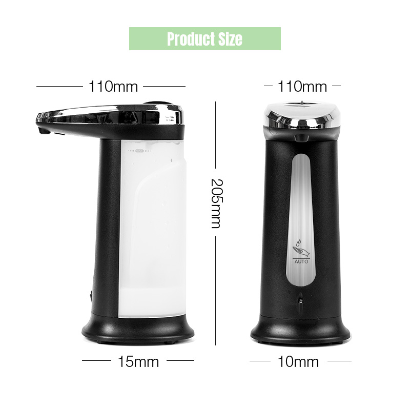 Hd73c52810bd8451bba192569b1c93091K Touchless Liquid Soap Dispenser Smart Sensor Hands-Free Automatic Soap Dispenser Pump For Bathroom Kitchen 400ML