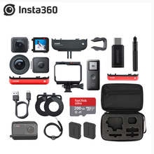 Original Insta360 One R Action Camera 5.7 k 360 panorama 5.3k 1 inch Lens Mod 4k Wide Angle Camera Boosted Batttery Base