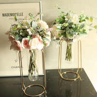 1pc Artificial Flowers Silk Camellia Peony mini Wedding Flower Bouquet Hydrangea for Home Party Decoration Indoor