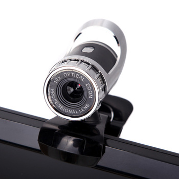 Webcam 360 grados Clip-on USB HD Webcam Digital videocámara con micrófono para Laptop PC video conferencia
